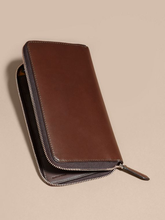 Sepia brown Smooth Leather Ziparound Wallet Sepia Brown - cell image 3