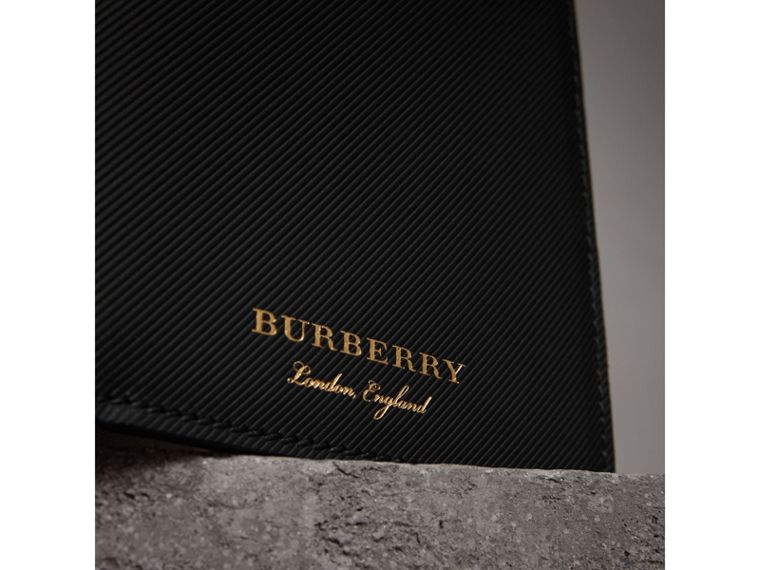 Trench Leather International Bifold Wallet in Black - Men | Burberry - cell image 1