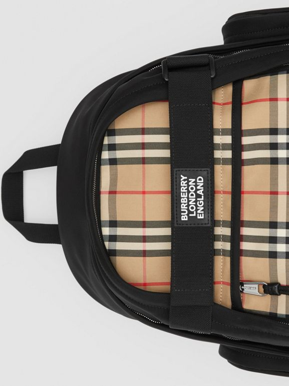 Large Vintage Check Panel Nevis Backpack in Archive Beige | Burberry Canada - cell image 1