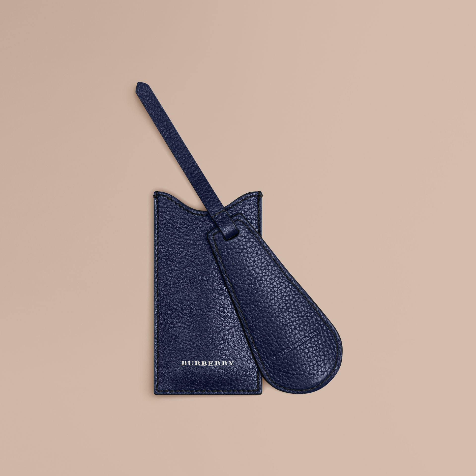 Leather Shoe Horn in Bright Navy - gallery image 1