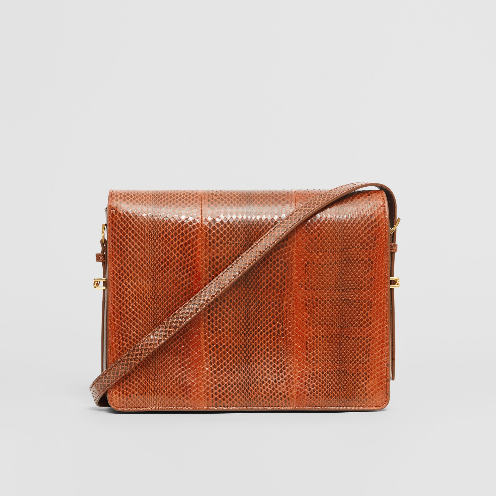 Large Snakeskin Grace Bag in Orange - Women | Burberry - gallery image 6