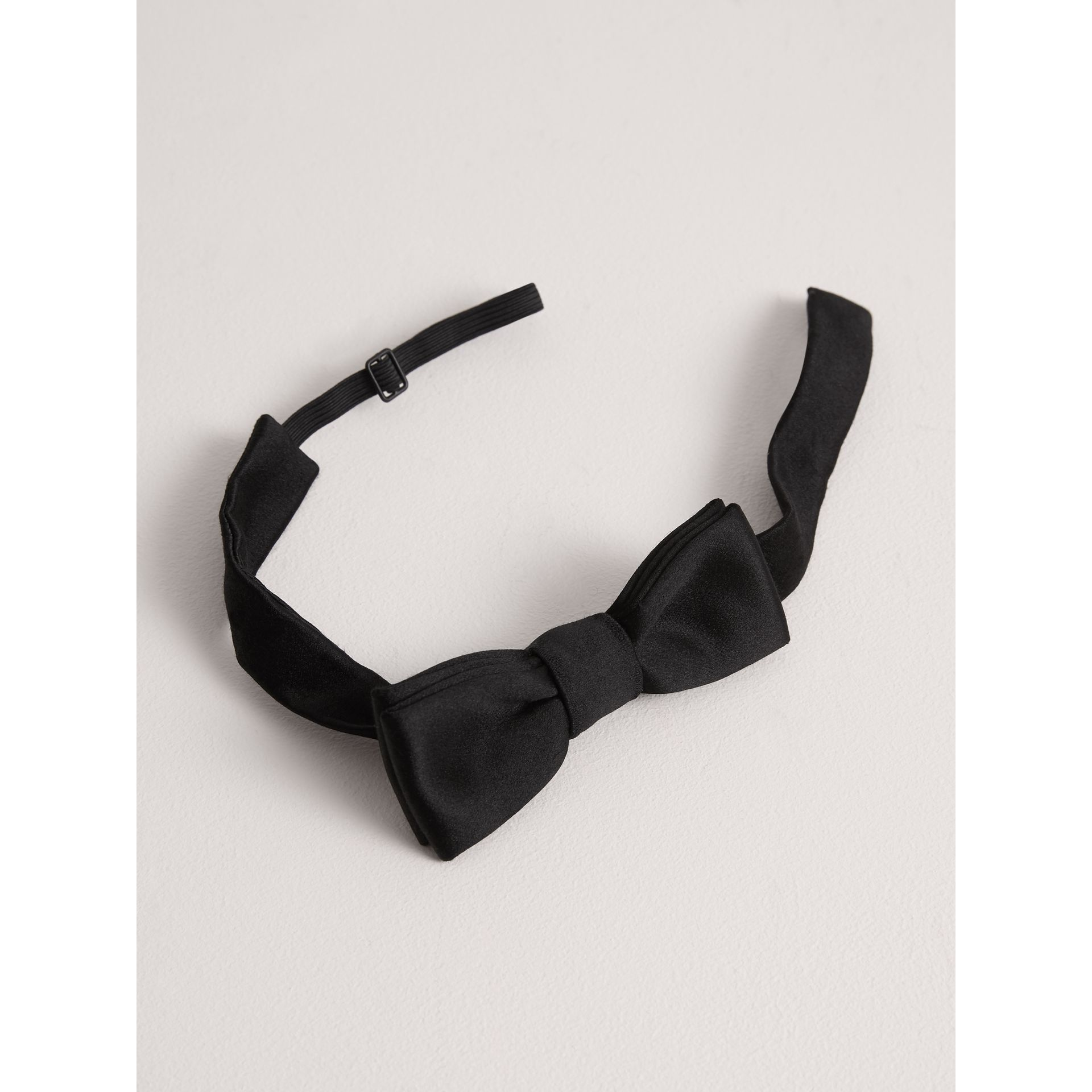 Silk Bow Tie in Black - Children | Burberry United Kingdom - gallery image 1