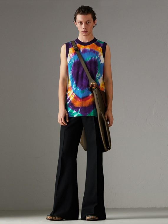 Tie-dye Print Cashmere Vest in Multicolour