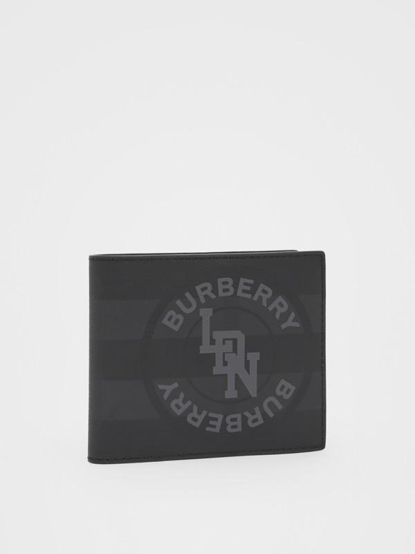 Portefeuille à rabat multidevise London check avec logo (Anthracite Sombre) - Homme | Burberry - cell image 3