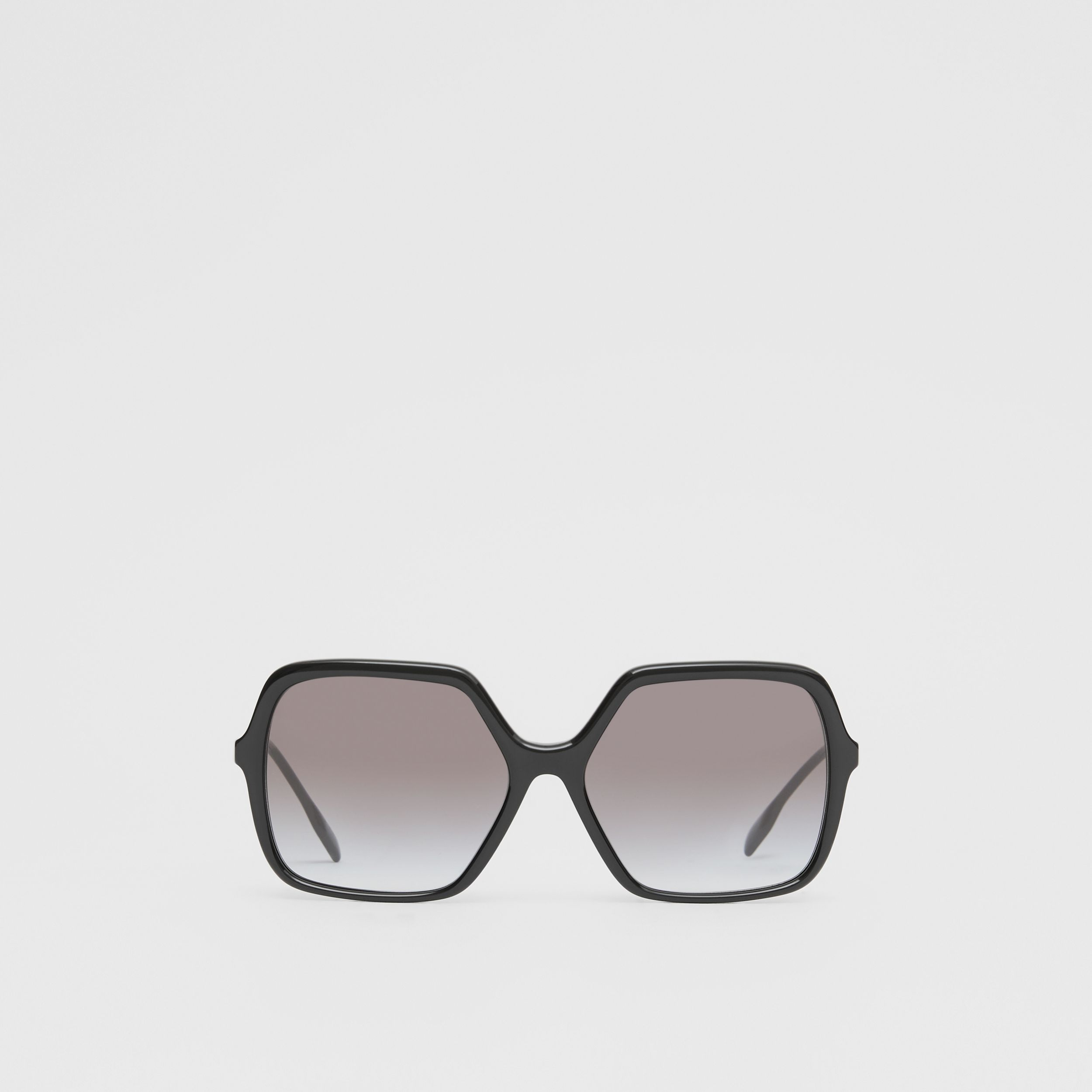 Oversized Square Frame Sunglasses in Black - Women | Burberry - 1