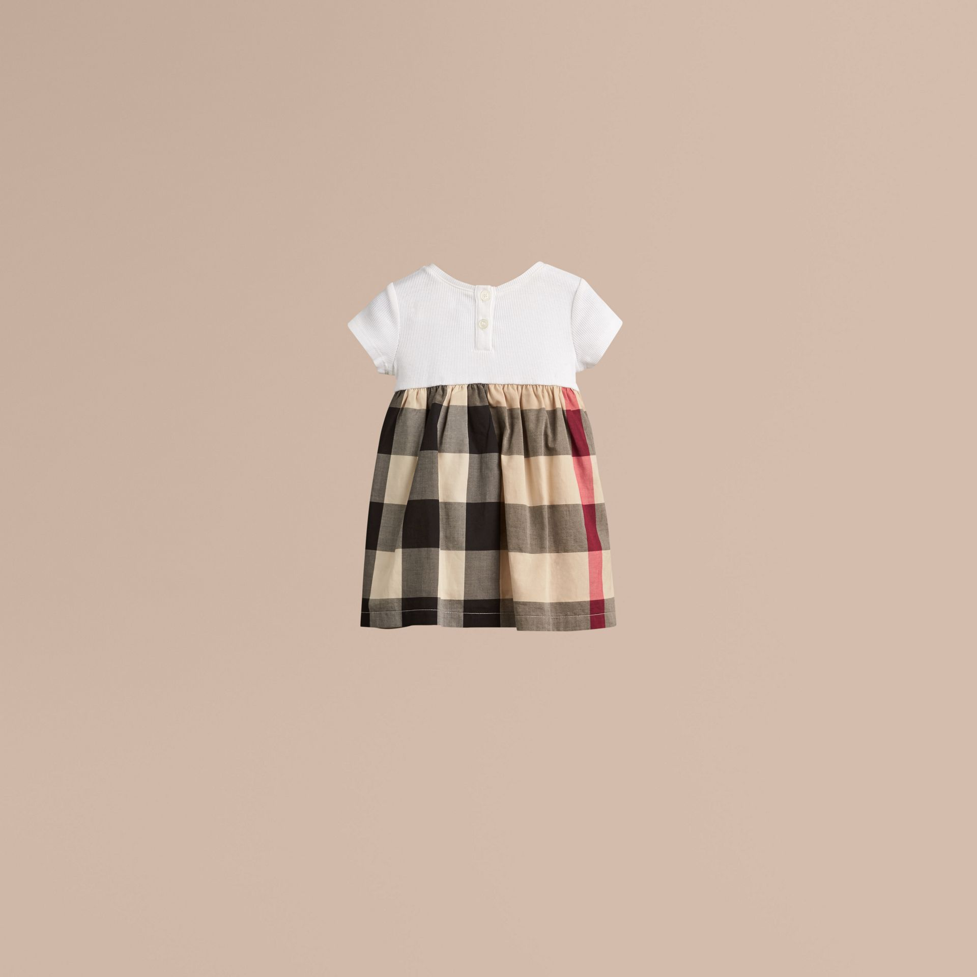 Check Cotton Jersey T-shirt Dress in New Classic | Burberry - gallery image 3