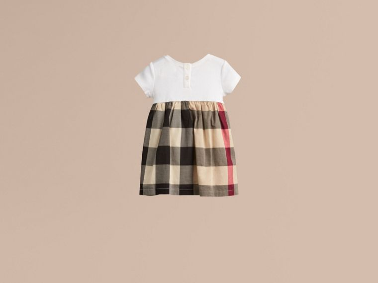Check Cotton Jersey T-shirt Dress in New Classic | Burberry Australia - cell image 2
