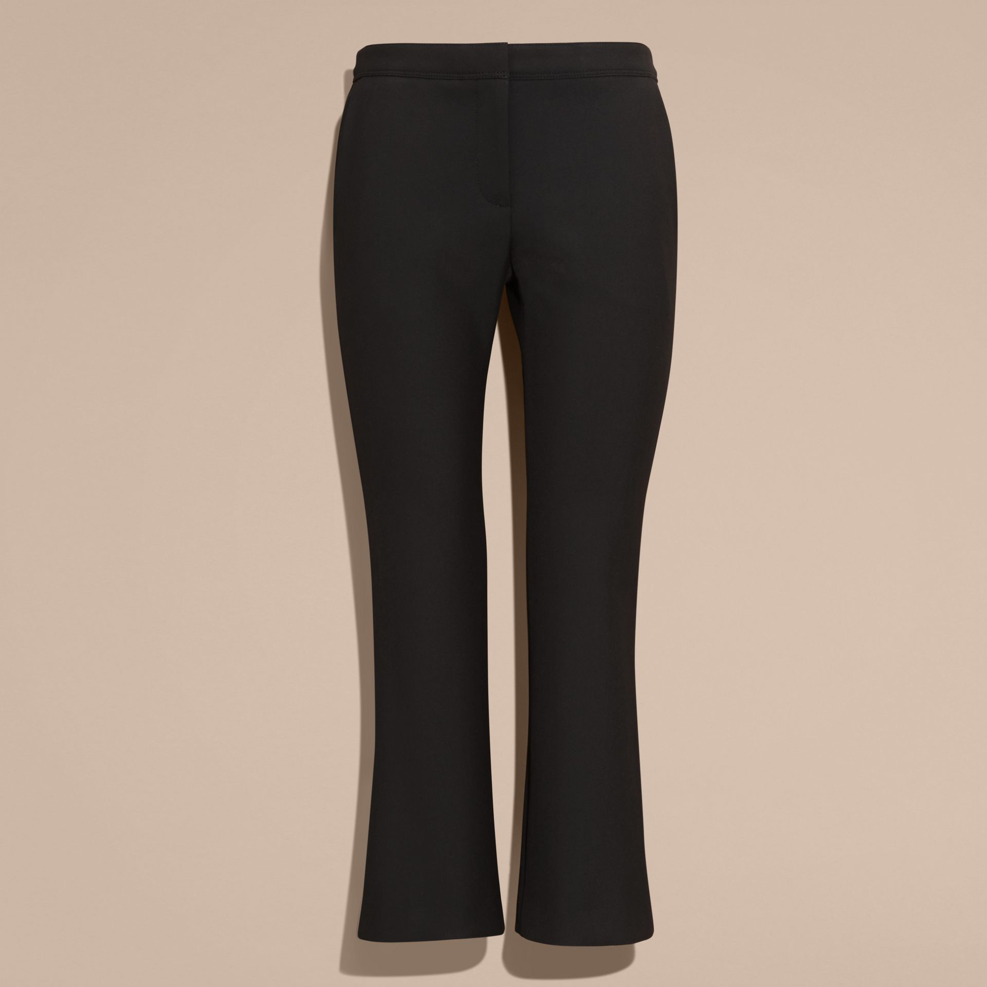 Black Cropped Tailored Trousers - gallery image 4