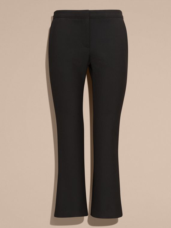 Black Cropped Tailored Trousers - cell image 3
