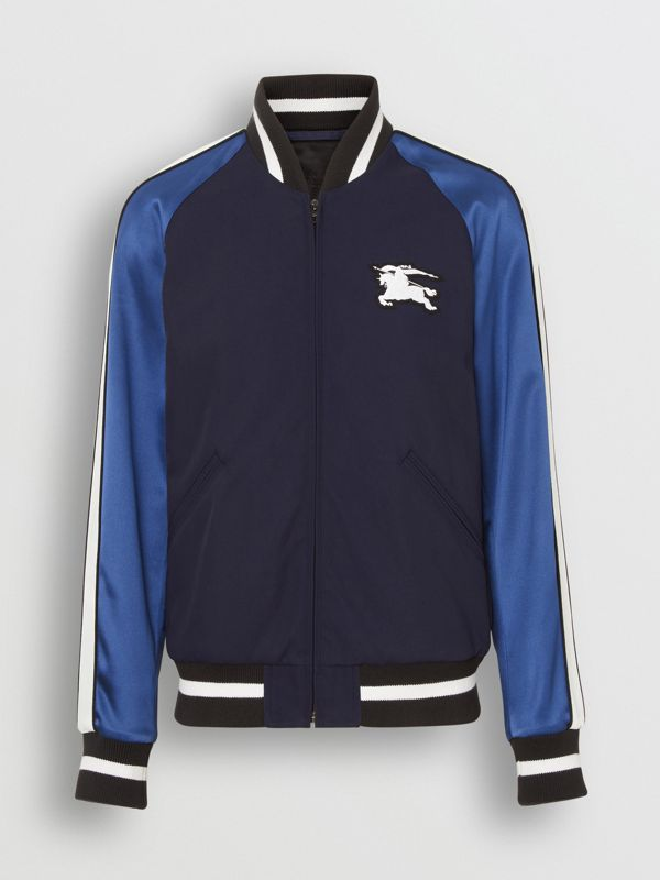 EKD Logo Nylon Varsity Jacket in Navy - Men | Burberry - cell image 3
