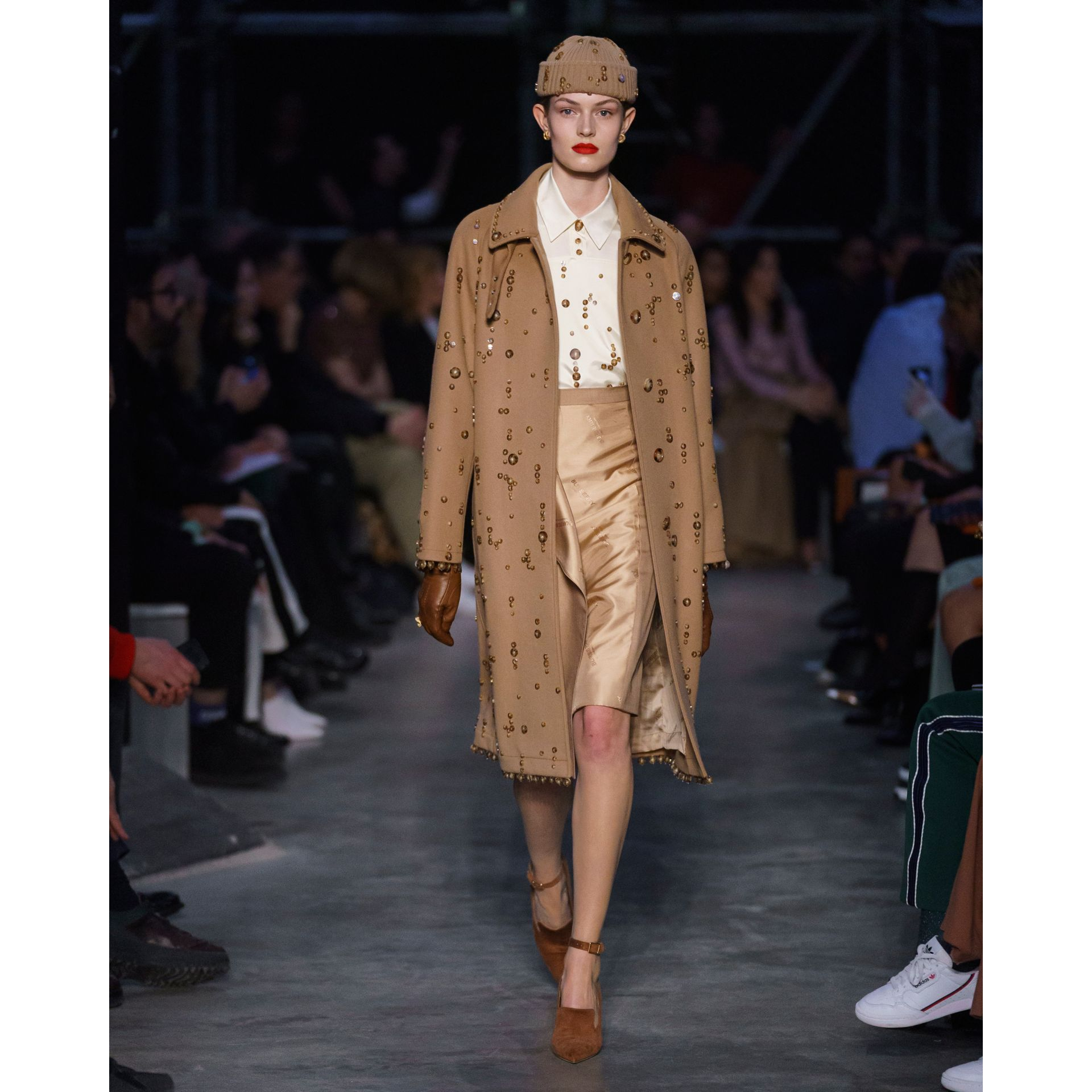 Embellished Wool Cashmere Car Coat in Camel - Women | Burberry - gallery image 7