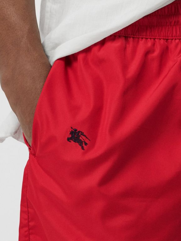 Archive Logo Drawcord Swim Shorts in Parade Red - Men | Burberry - cell image 1