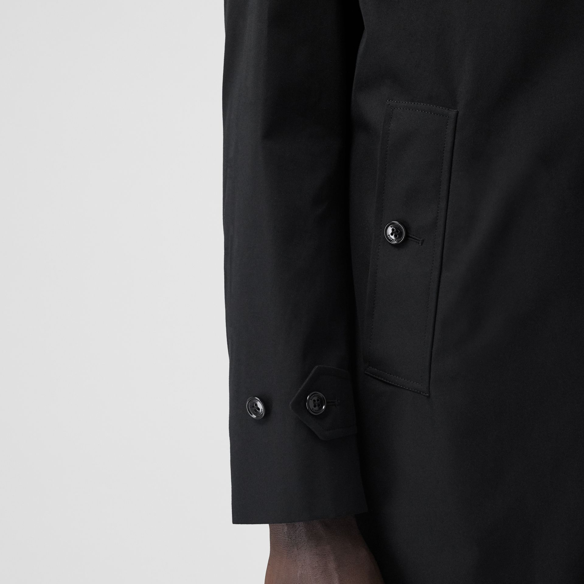 The Pimlico Car Coat in Black - Men | Burberry - gallery image 4