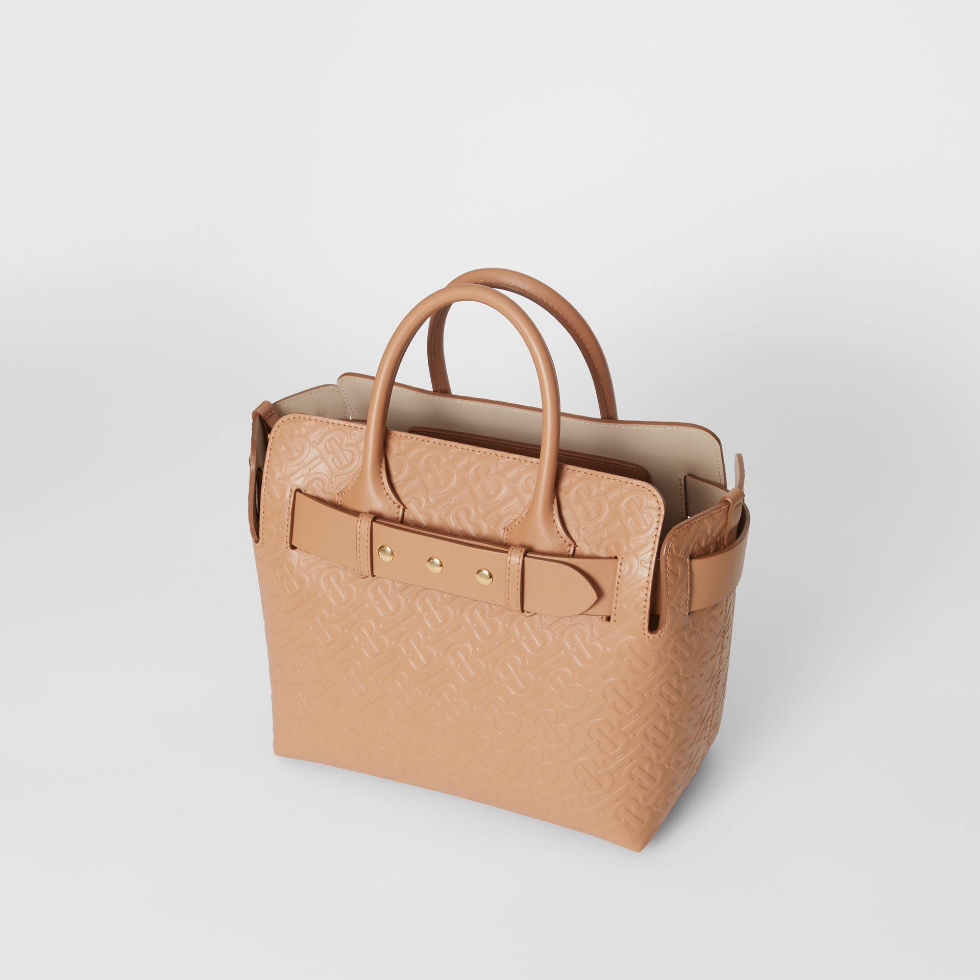 The Small Monogram Leather Triple Stud Belt Bag in Light Camel - Women | Burberry - gallery image 3
