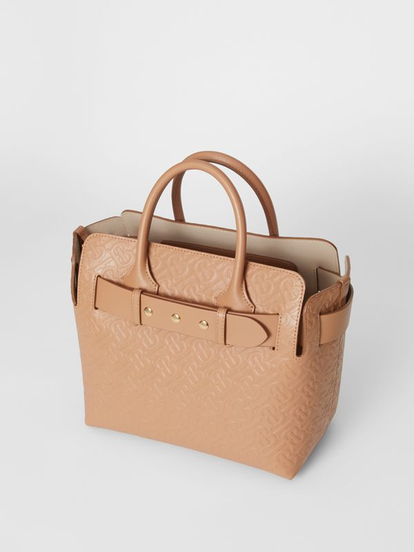 The Small Monogram Leather Triple Stud Belt Bag in Light Camel - Women | Burberry - cell image 3