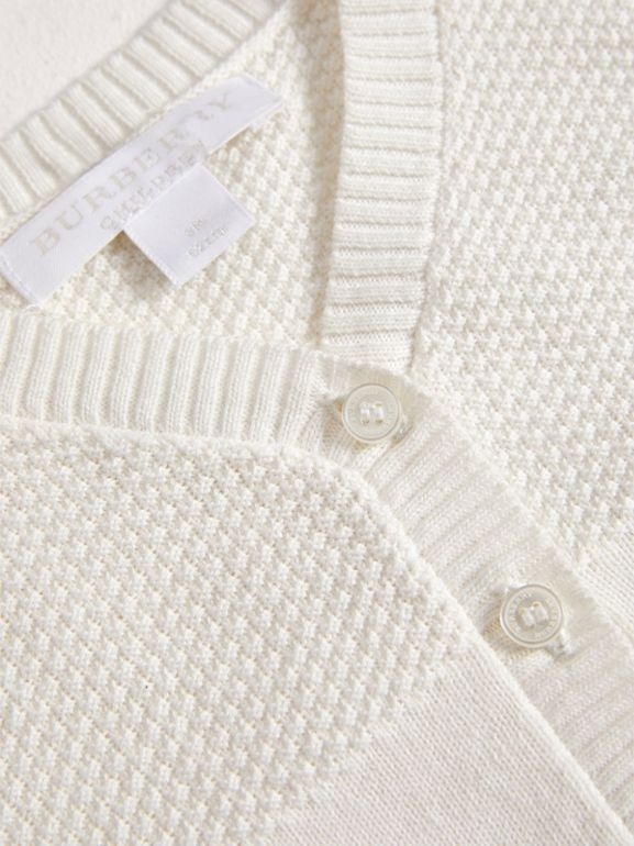 Multi-stitch Cotton Cardigan in White - Children | Burberry United Kingdom - cell image 1