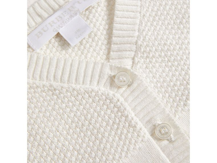 Multi-stitch Cotton Cardigan in White | Burberry - cell image 1