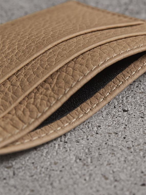Textured Leather Card Case in Chino - Men | Burberry - cell image 3
