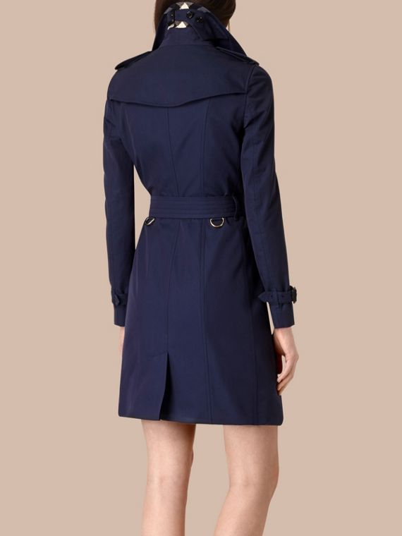 Ink blue Cotton Gabardine Trench Coat Ink Blue - cell image 2