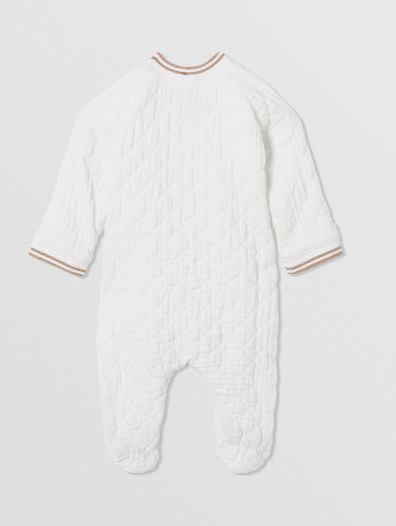Thomas Bear Detail Quilted Cotton All-in-One in White