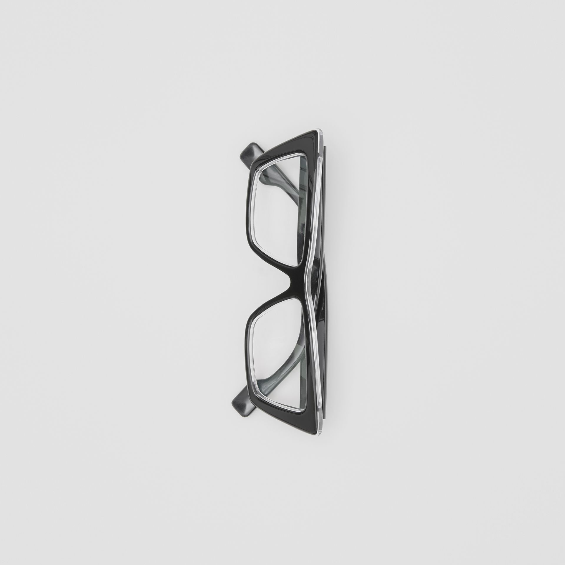 Rectangular Optical Frames in Black - Women | Burberry United States - gallery image 3