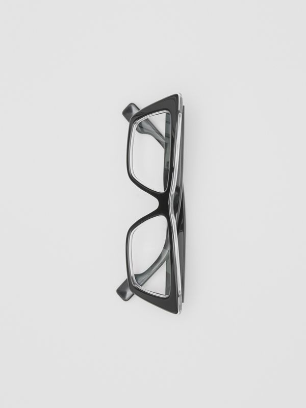 Rectangular Optical Frames in Black - Women | Burberry United States - cell image 3