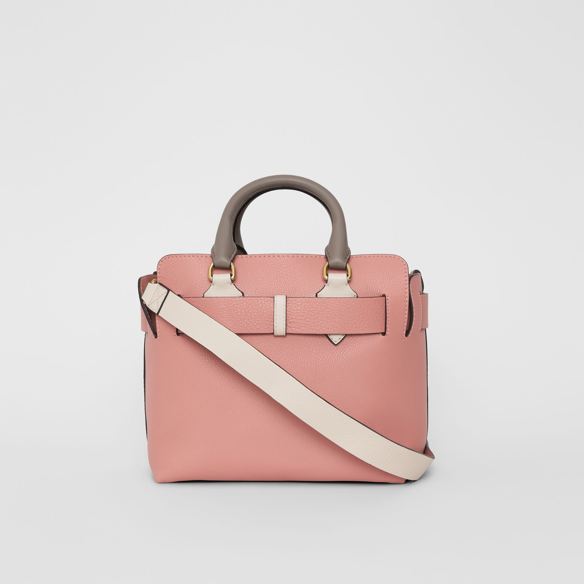 The Small Tri-tone Leather Belt Bag in Limestone/dusty Rose - Women | Burberry Singapore - gallery image 8