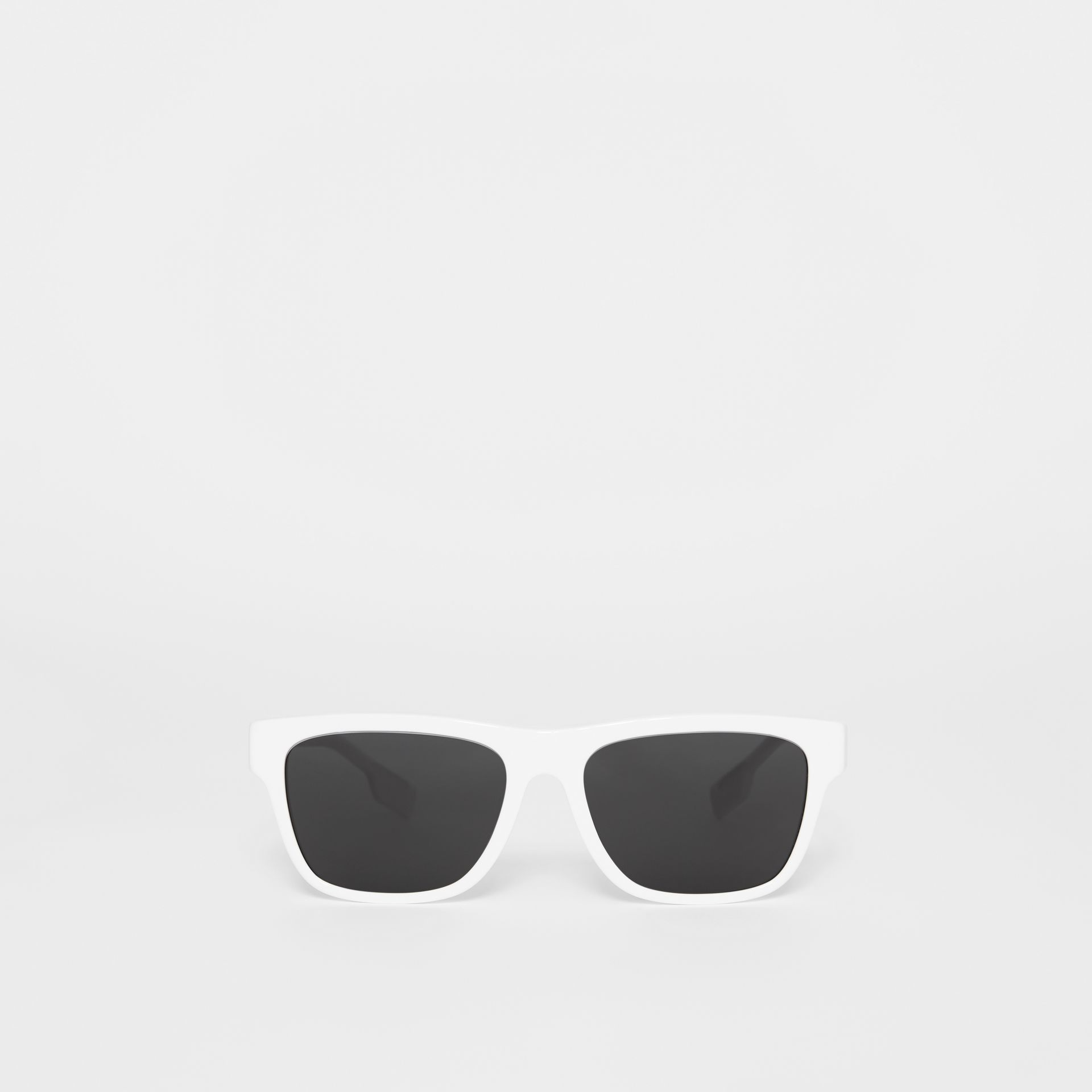 Square Frame Sunglasses in White - Men | Burberry United States - gallery image 0