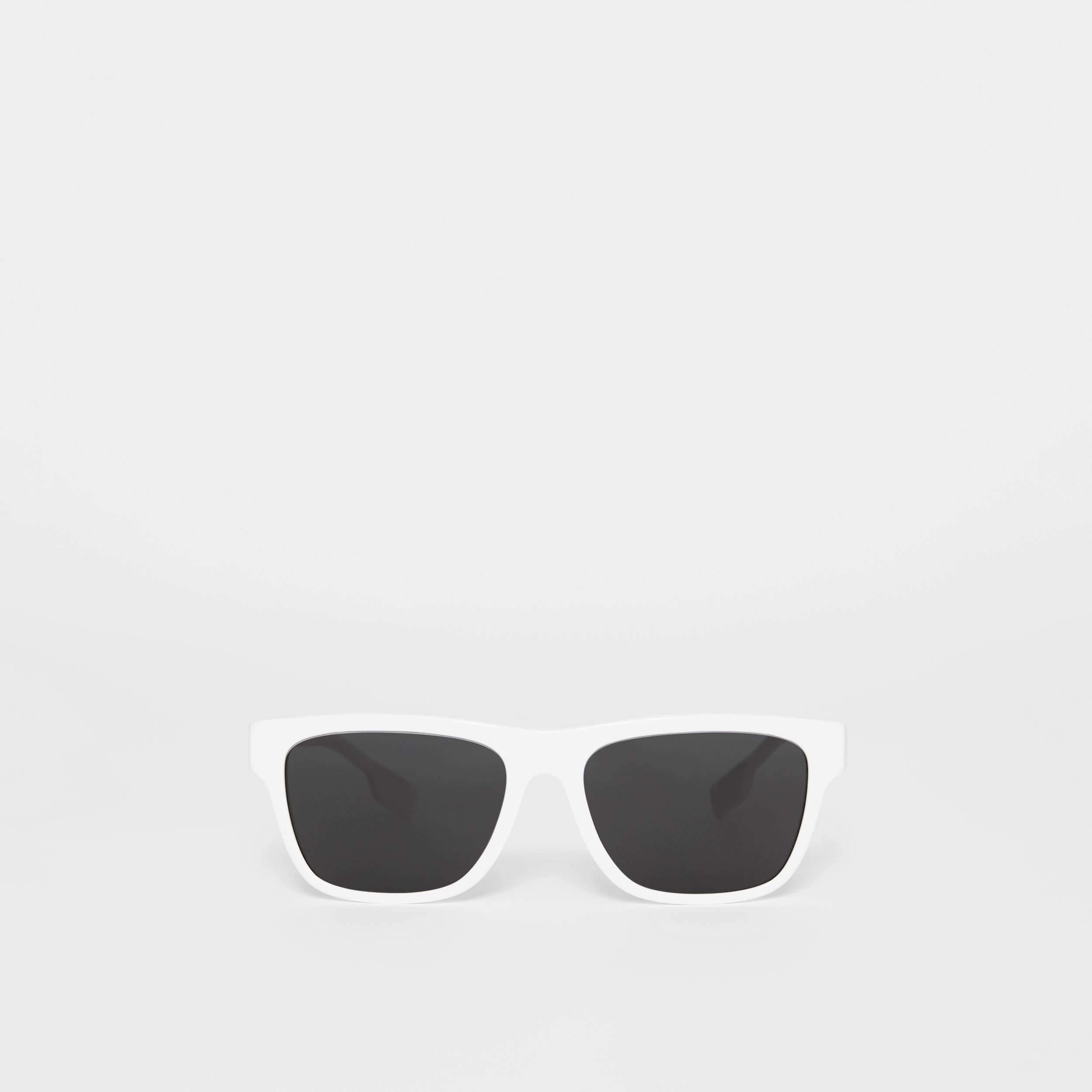 Square Frame Sunglasses in White - Men | Burberry - 1