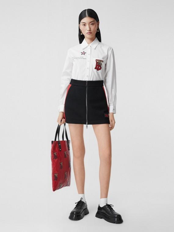 몽타주 프린트 코튼 셔츠 (화이트)