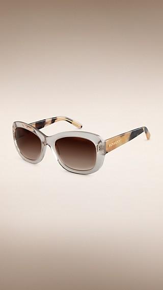 Gafas de sol con montura redonda de la colección Trench coat
