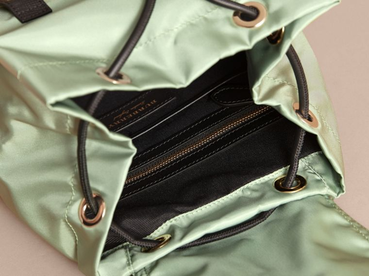 The Medium Rucksack in Technical Nylon and Leather in Apple Green - Women | Burberry Canada - cell image 4
