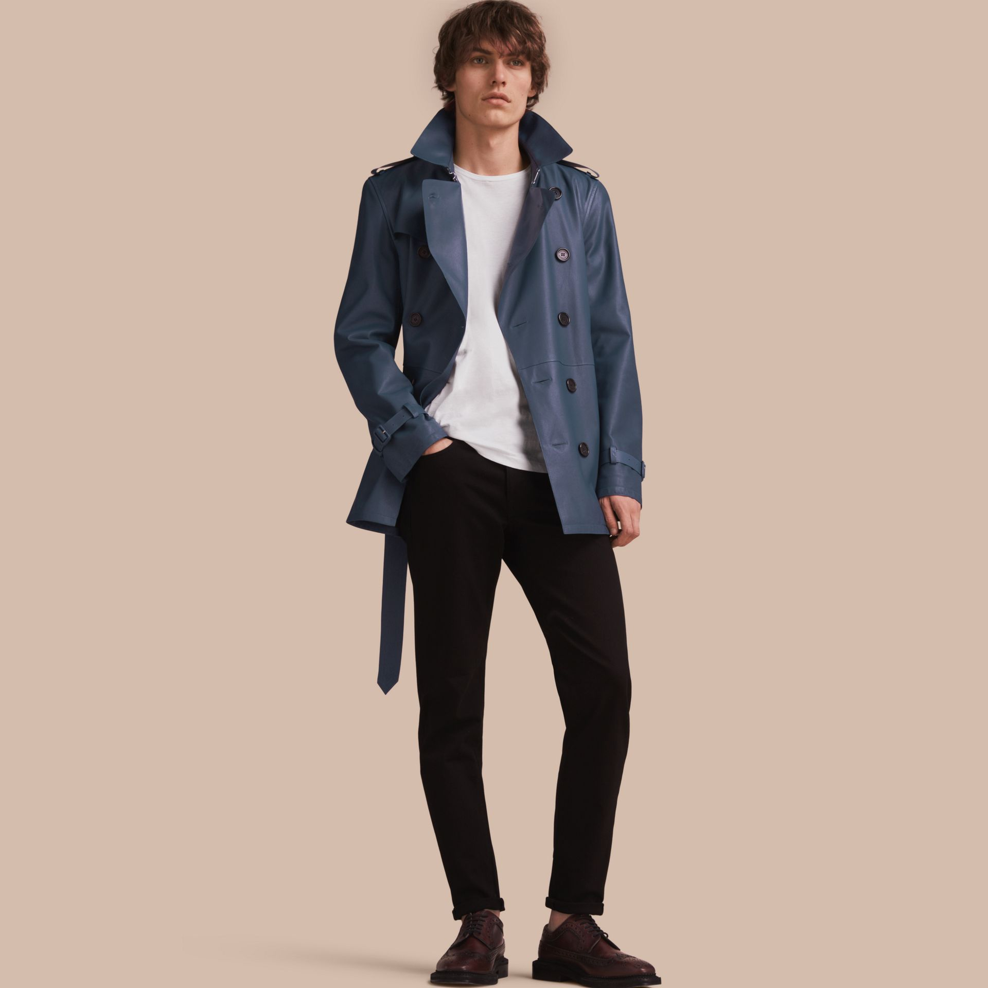 Relaxed Fit Stretch Jeans - Men | Burberry - gallery image 1