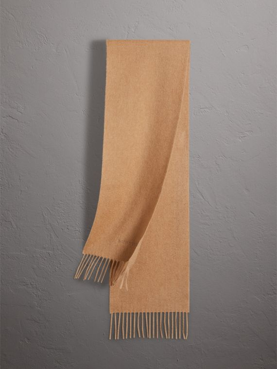 The Mini Classic Cashmere Scarf in Camel