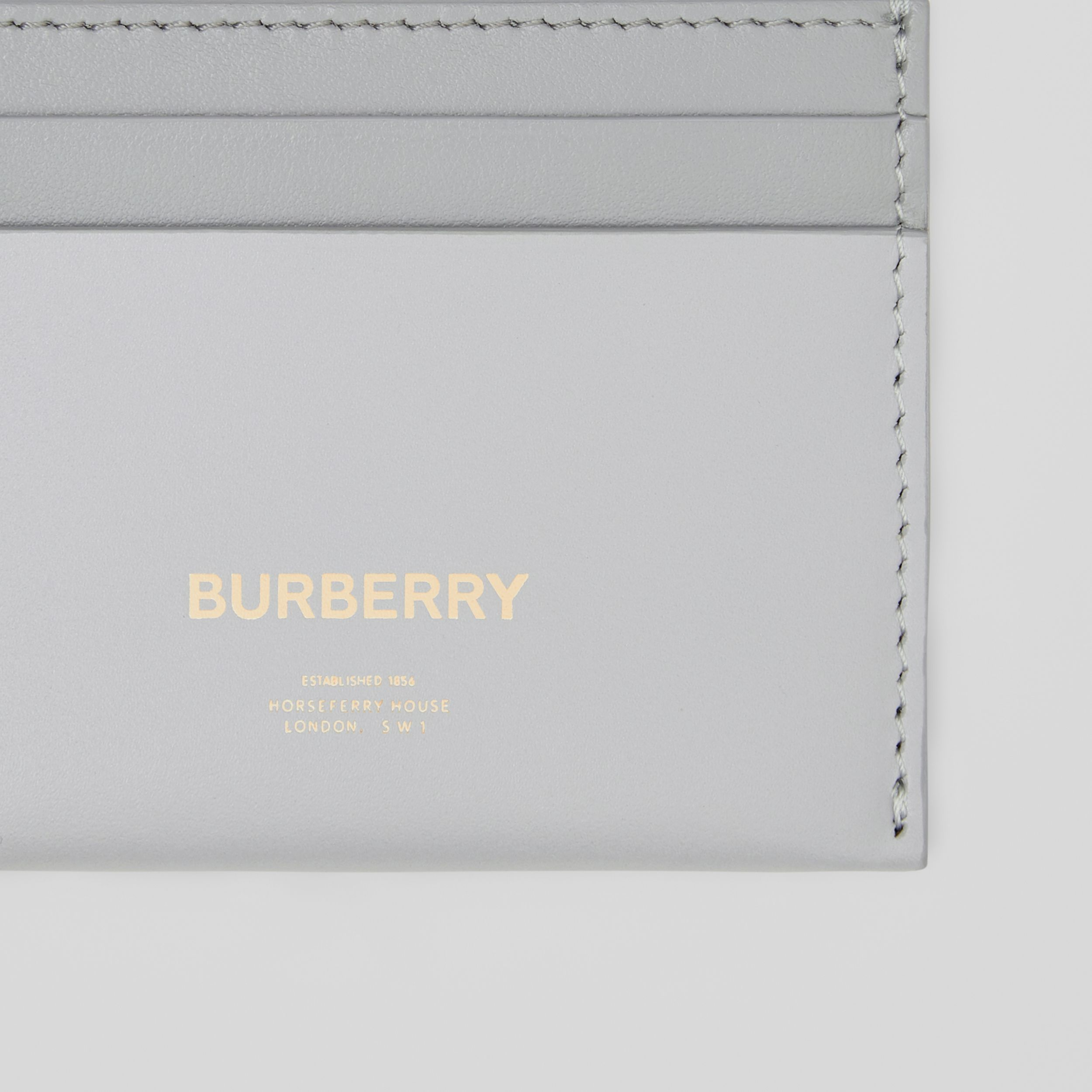 Horseferry Print Leather Card Case in Heather Melange/cloud Grey - Women | Burberry - 2