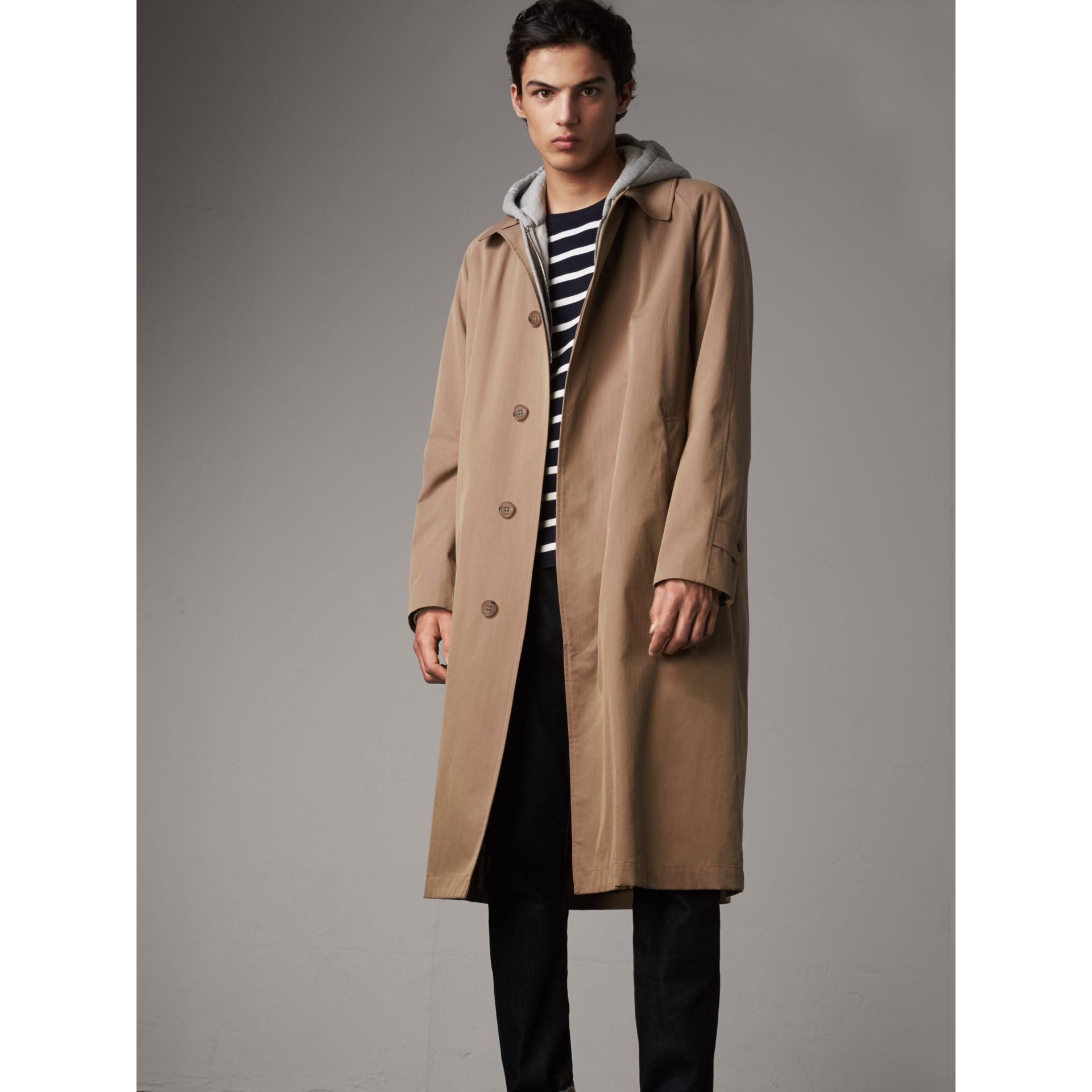 The Brighton Car Coat in Taupe Brown - Men | Burberry - gallery image 6