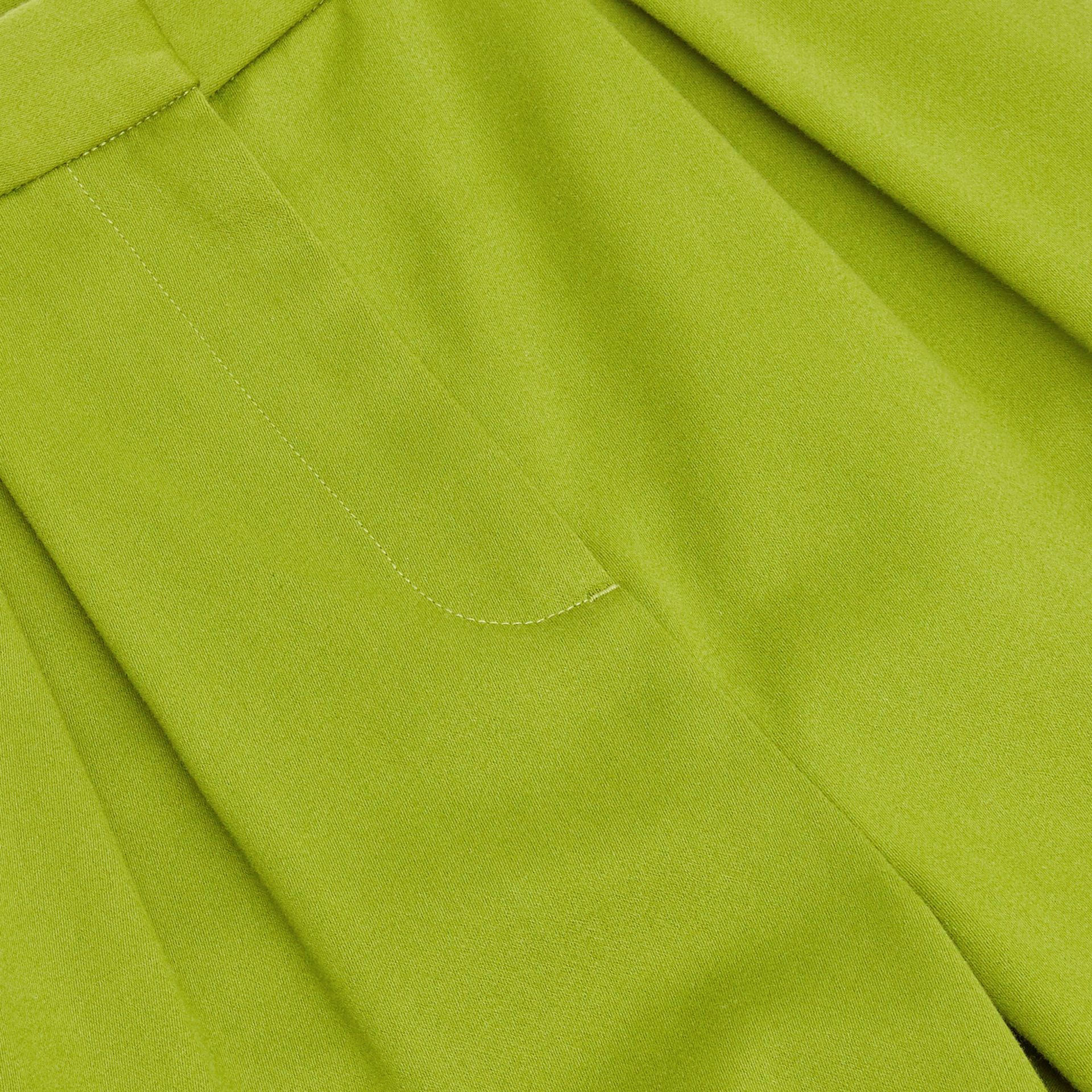 Cotton Sateen Tapered Trousers in Bright Green - Girl | Burberry - gallery image 1