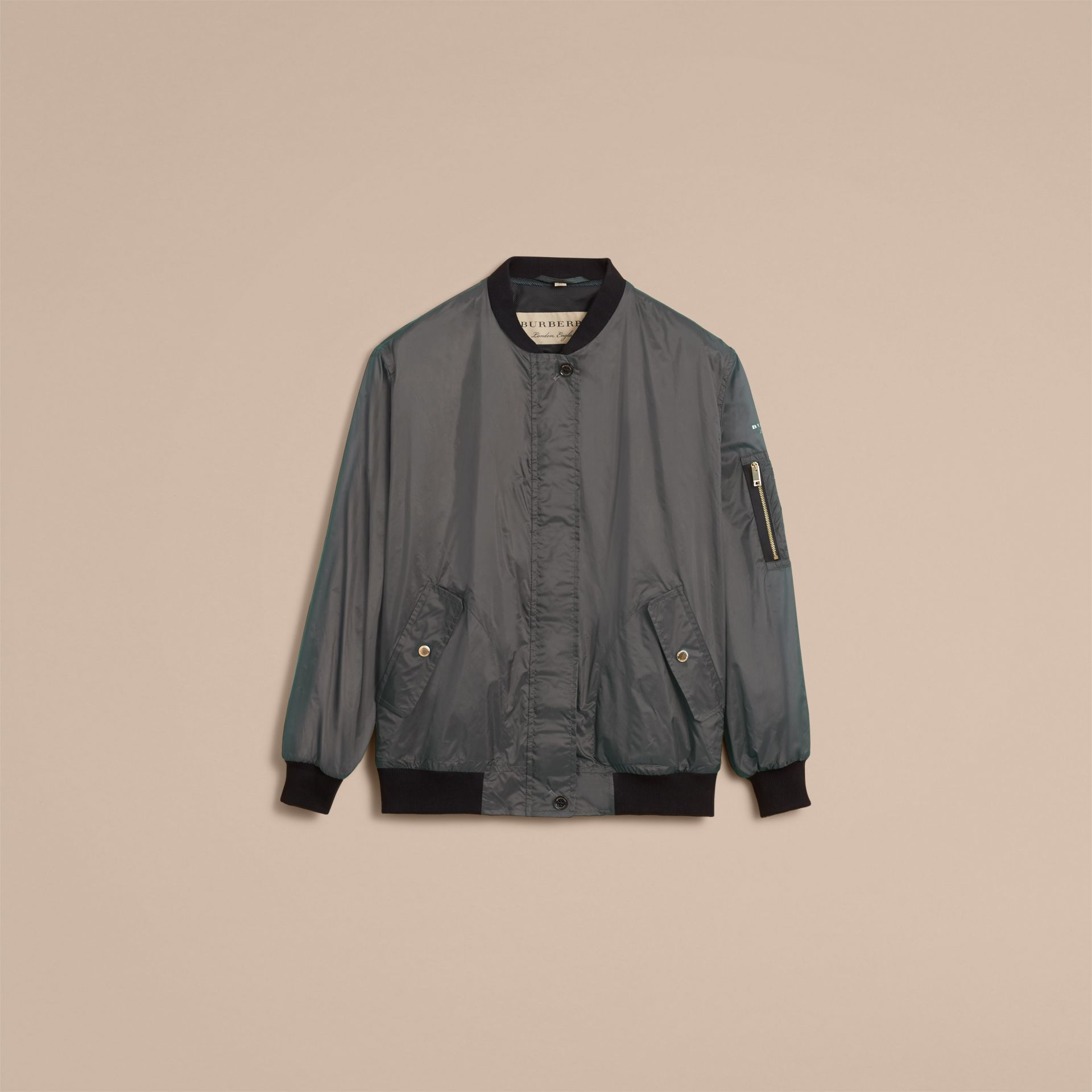 Lightweight Bomber Jacket in Vintage Green - Women | Burberry - gallery image 4