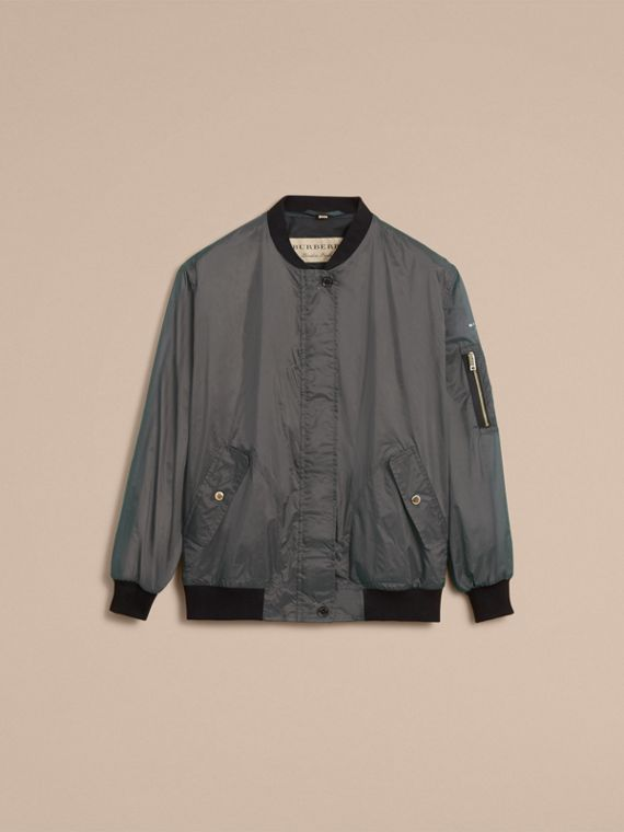 Lightweight Bomber Jacket in Vintage Green - Women | Burberry - cell image 3
