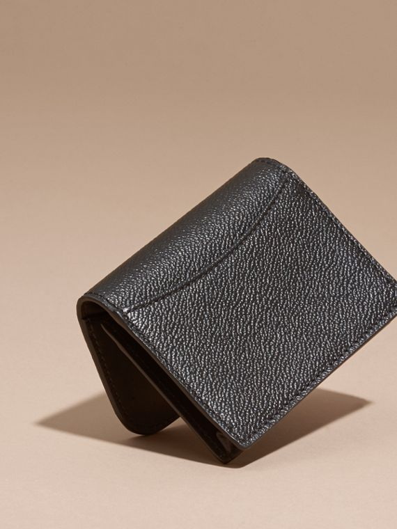 Grainy Leather Card Case Black - cell image 3
