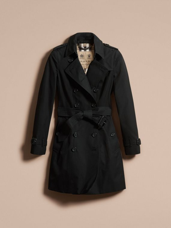 Black The Chelsea – Mid-length Heritage Trench Coat Black - cell image 3