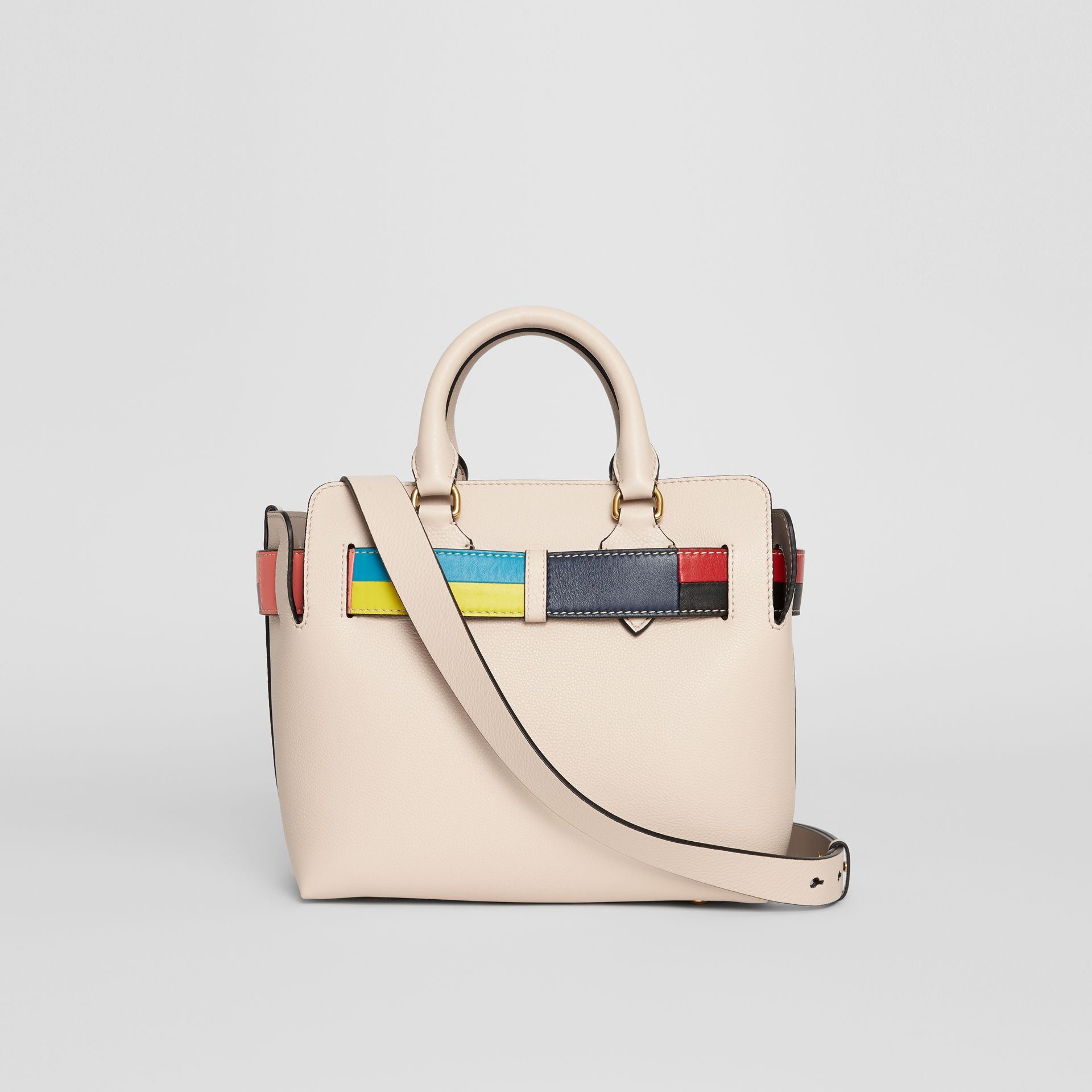 The Small Leather Colour Block Detail Belt Bag in Limestone - Women | Burberry - gallery image 5