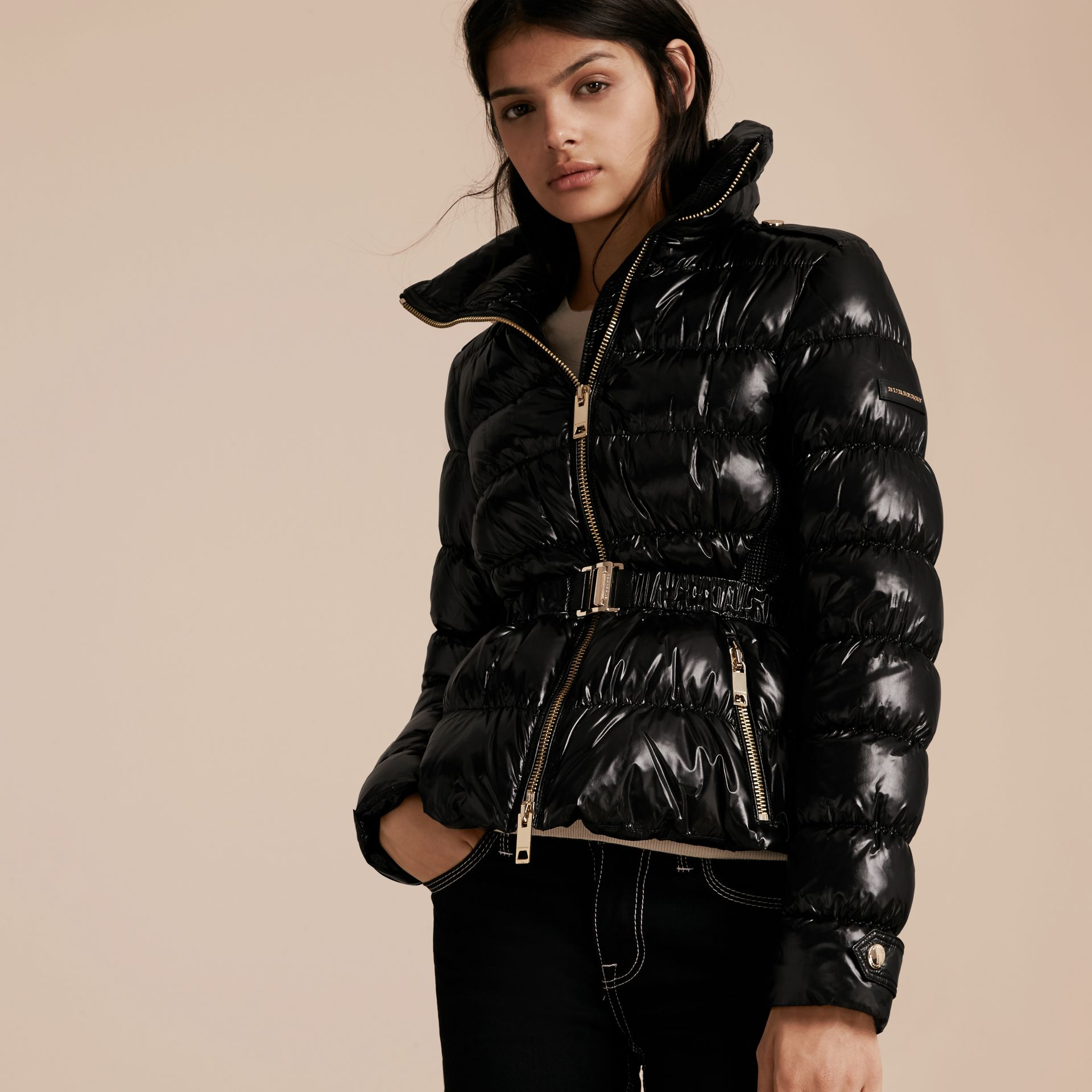 Black Lightweight Down-filled Jacket Black - gallery image 6