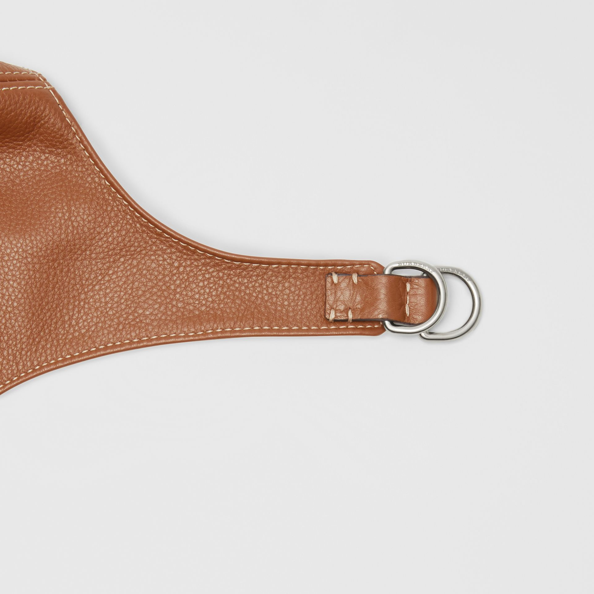 Leather Pilot Cap in Toffee | Burberry - gallery image 1