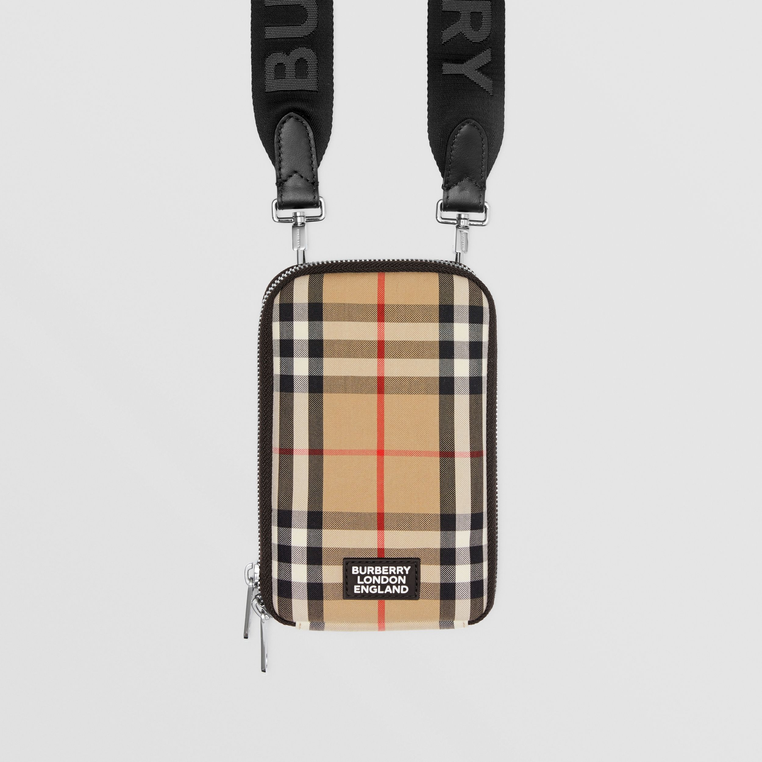Vintage Check Phone Case with Detachable Strap in Archive Beige | Burberry - 2
