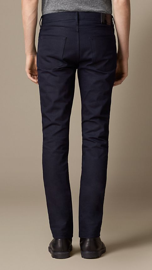 Dark indigo Slim Fit Saturated Selvedge Jeans - Image 2