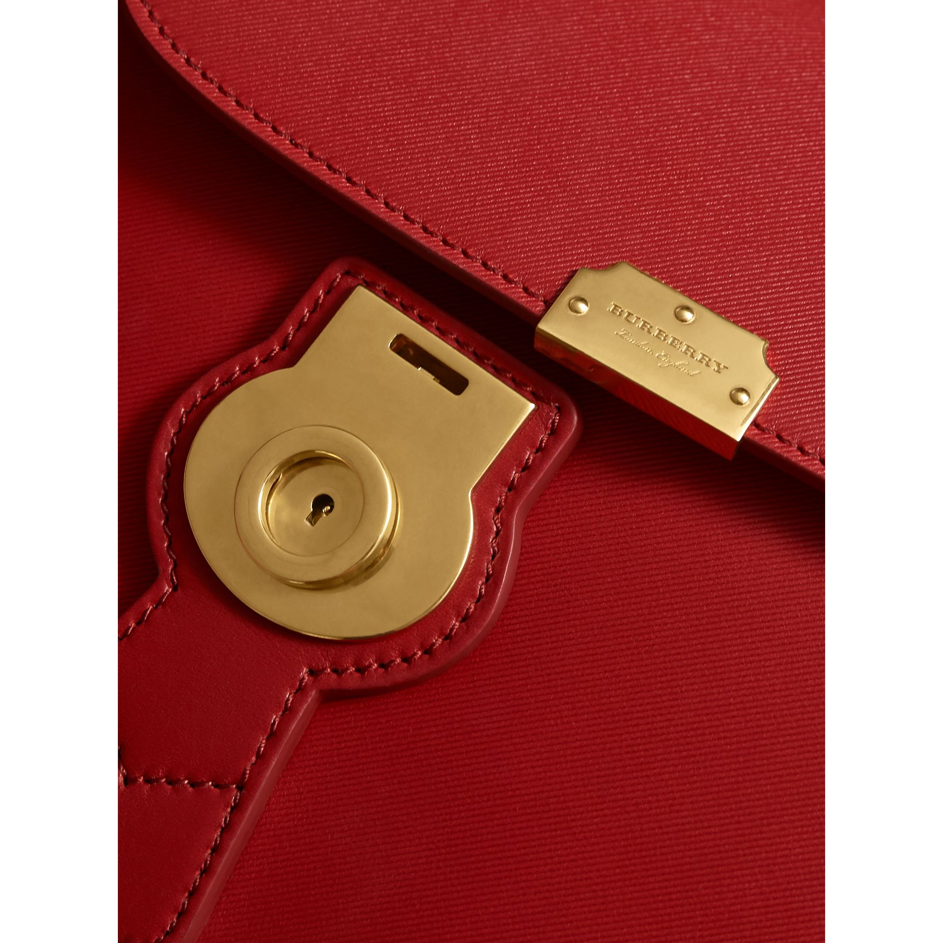 The Medium DK88 Top Handle Bag in Coral Red - Women | Burberry United Kingdom - gallery image 1