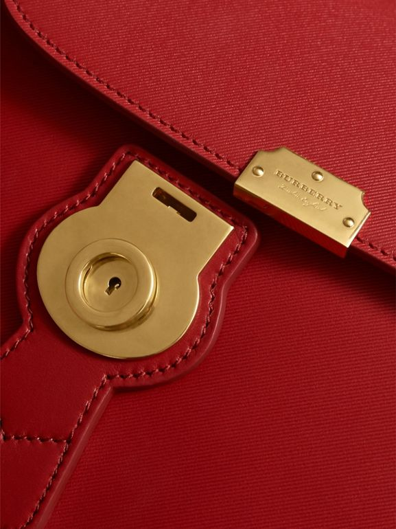 The Medium DK88 Top Handle Bag in Coral Red - Women | Burberry - cell image 1
