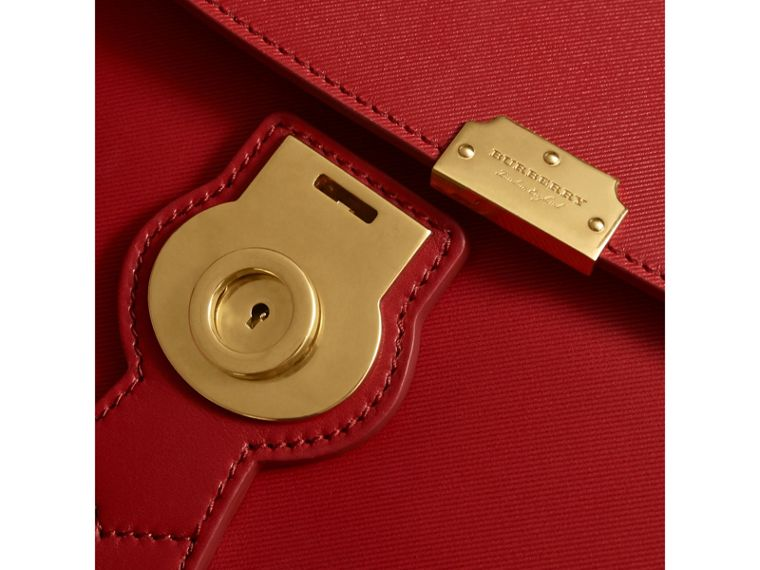 The Medium DK88 Top Handle Bag in Coral Red - Women | Burberry United Kingdom - cell image 1