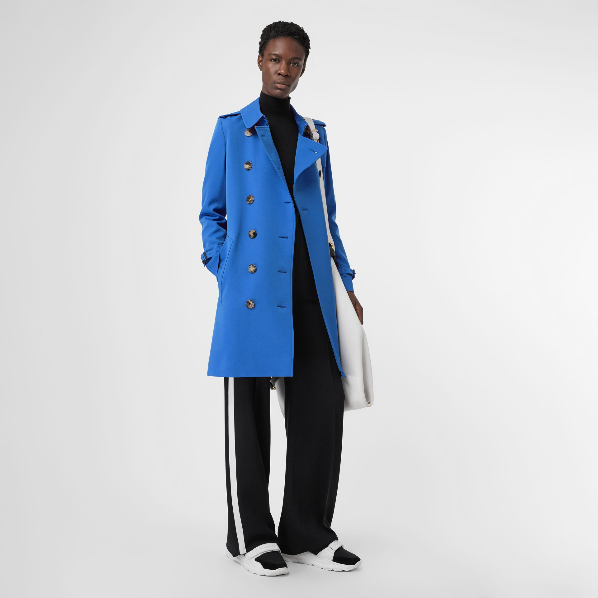 Wool Gabardine Trench Coat in Sky Blue - Women | Burberry - gallery image 0